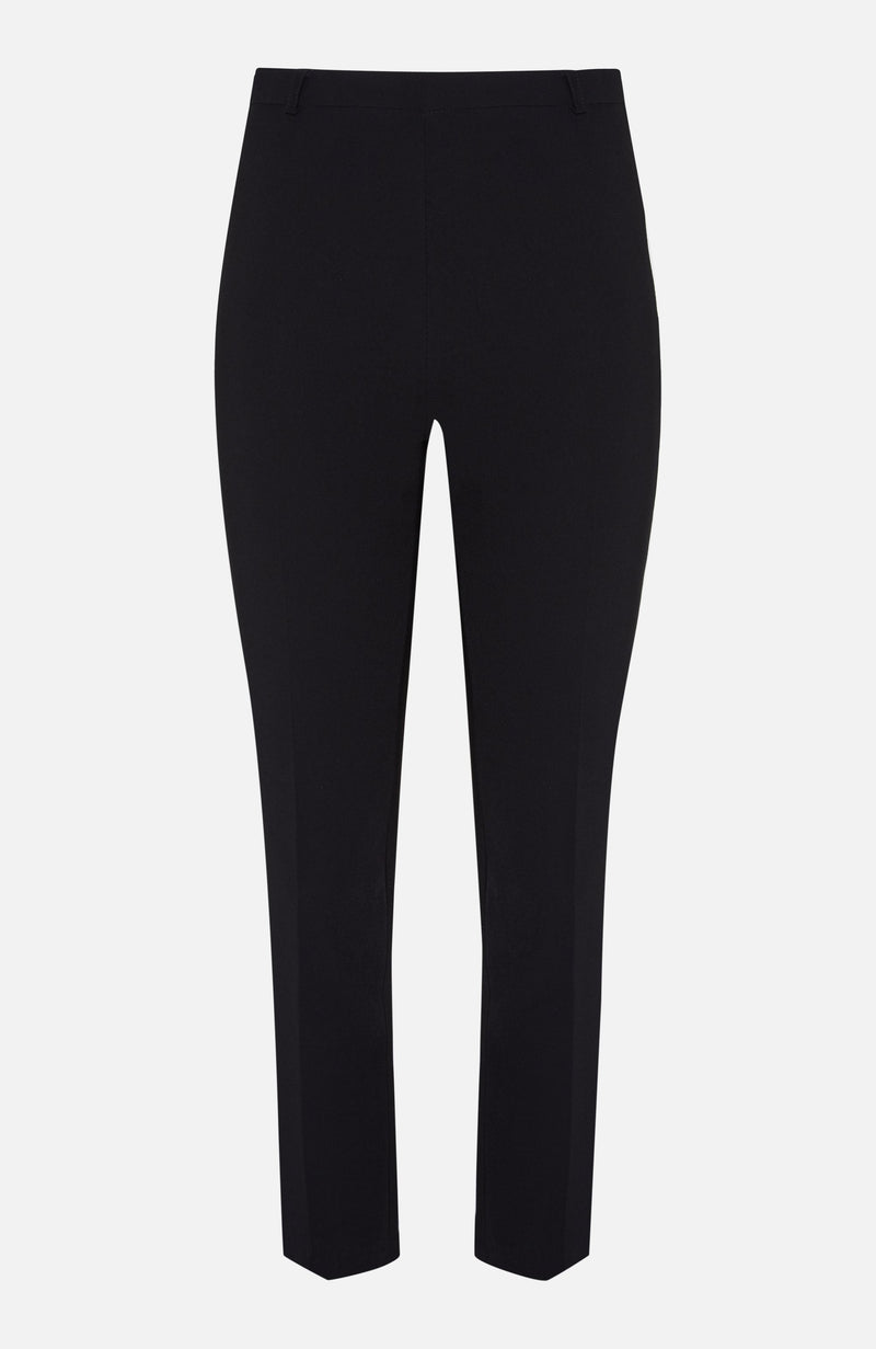 Paulie Black Straight Cropped Trouser