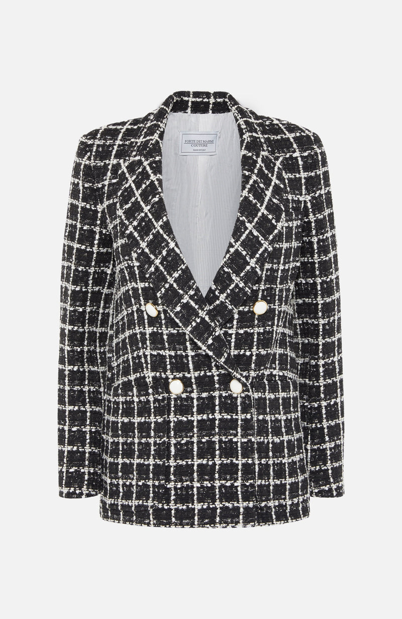 Forte Dei Marmi Couture Tweed Double Breasted Jacket