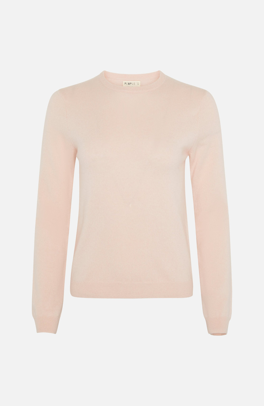 Republic Of Cashmere Round Neck Pink Sweater