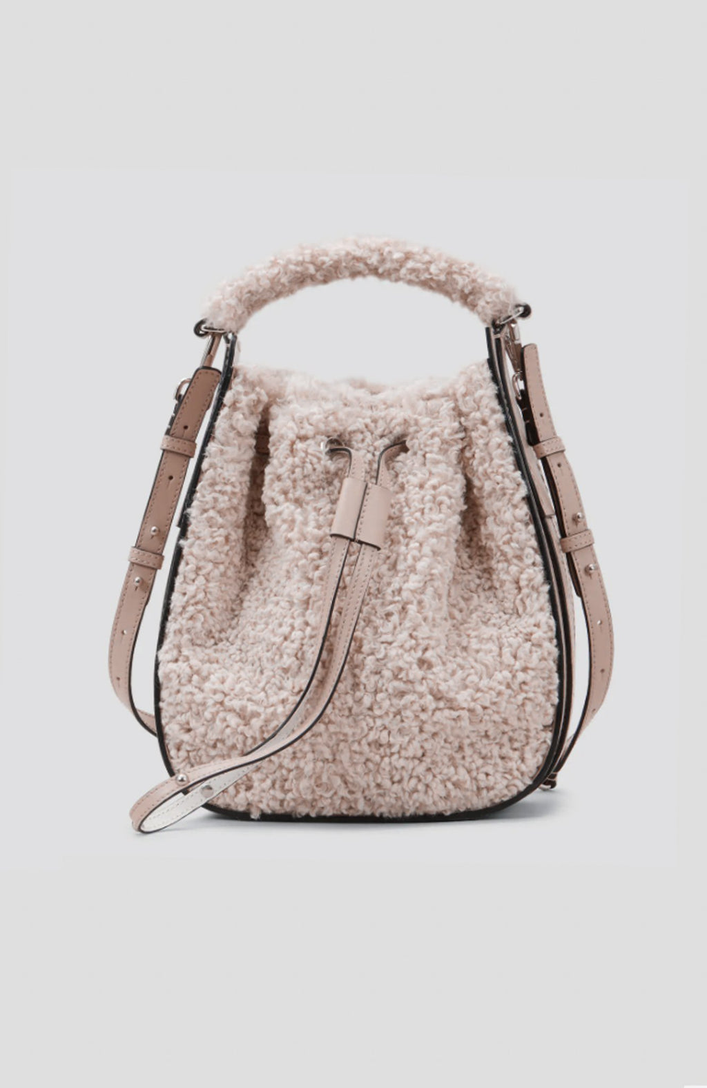 Hogan Stone Shearling Effect Bucket Bag