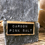 Pink Salt and Carbon Handcrafted Natural Soap