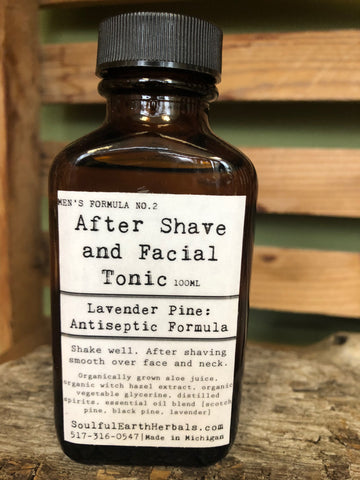 After Shave and Facial Tonic - Lavender Pine Antiseptic Formula