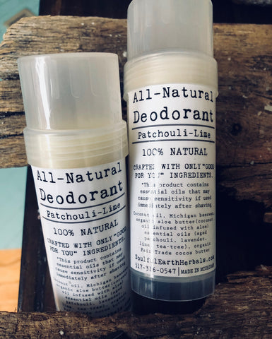 All-Natural Deodorant (Patchouli Lime)