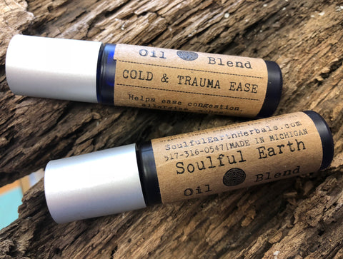 Cold and Trauma Ease - Soulful Earth Oil Blend
