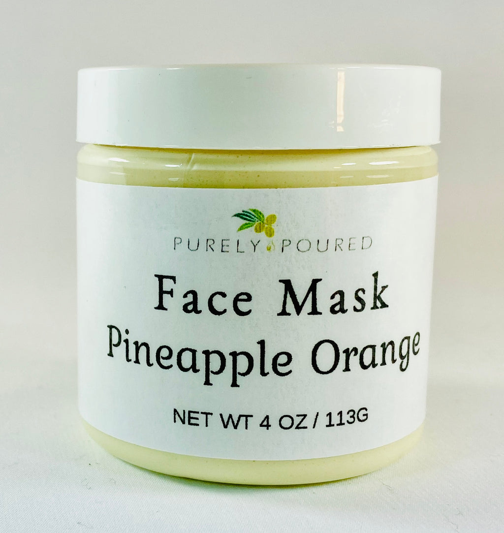Pineapple Orange Face Mask