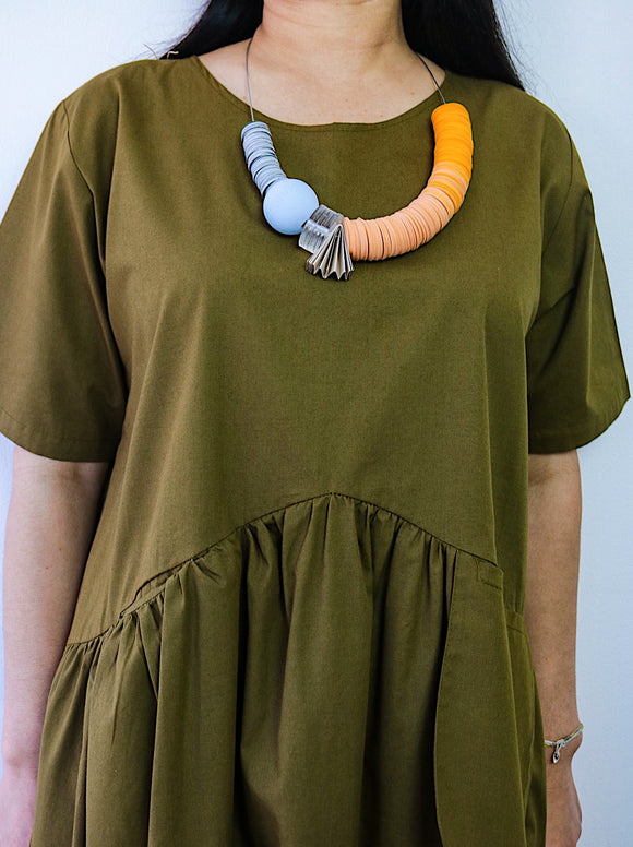 Mimi Fabriano paper Necklace - African Fashion -Cecefinery.com- Eco friendly Fashion- African Jewellery