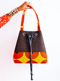 African  prints A.H.A Bucket bag - African Fashion -Cecefinery.com- Eco friendly Fashion- African Jewellery