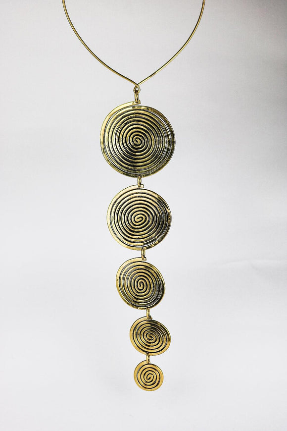 HAND-MADE BRASS SOLAR DROP - African Fashion -Cecefinery.com- Eco friendly Fashion- African Jewellery