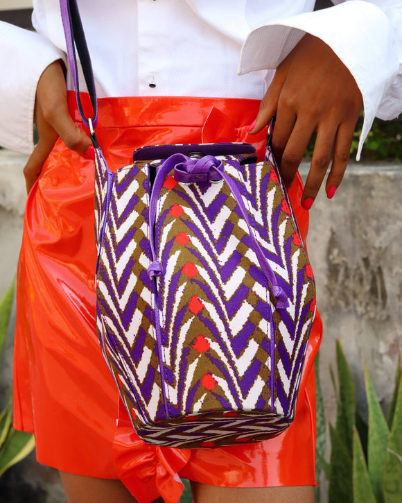 LONGA purple African bag - African Fashion -Cecefinery.com- Eco friendly Fashion- African Jewellery