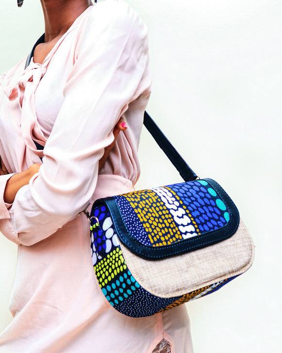 Jute African Flap bag - African Fashion -Cecefinery.com- Eco friendly Fashion- African Jewellery