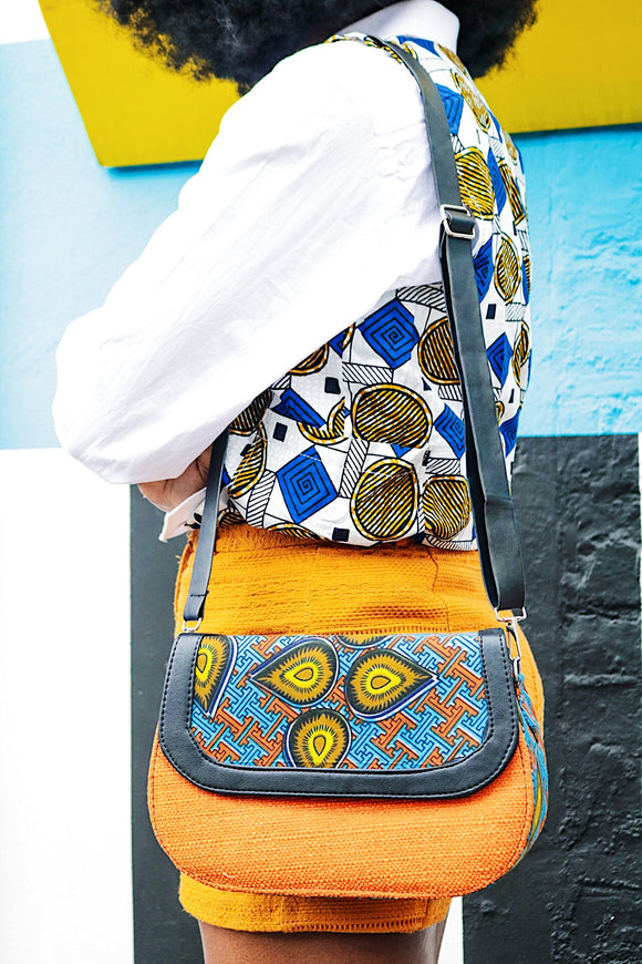 CeceFinery Ankara Flap Bag - African Fashion -Cecefinery.com- Eco friendly Fashion- African Jewellery