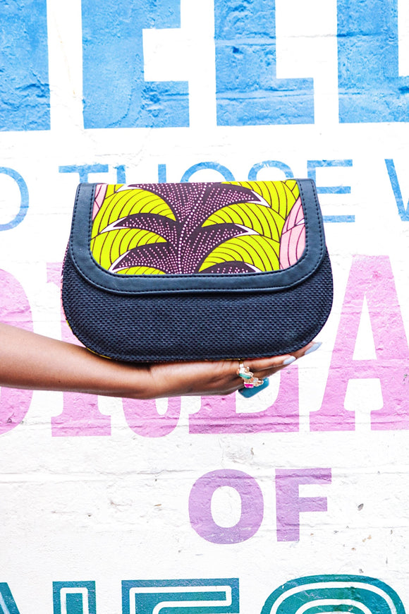 CeceFinery Ankara Mixed Prints Flap Bag - African Fashion -Cecefinery.com- Eco friendly Fashion- African Jewellery