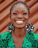 African prints Circular earrings - African Fashion -Cecefinery.com- Eco friendly Fashion- African Jewellery