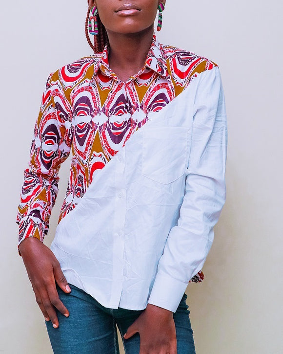 Cecefinery  African Aztec prints shirt - African Fashion -Cecefinery.com- Eco friendly Fashion- African Jewellery