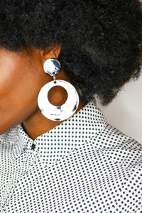 NOUVELLE LONDON - Marble Earrings - African Fashion -Cecefinery.com- Eco friendly Fashion- African Jewellery