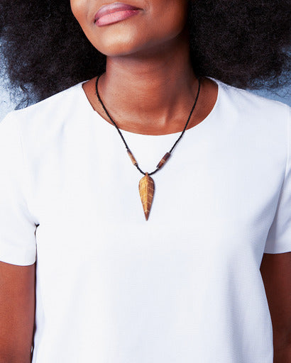 LEAF AFRICAN NECKLACE - Cecefinery.com