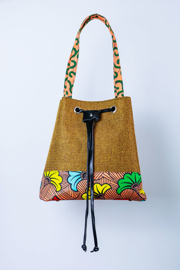 A.H.A. BUCKET BAG - African Fashion -Cecefinery.com- Eco friendly Fashion- African Jewellery