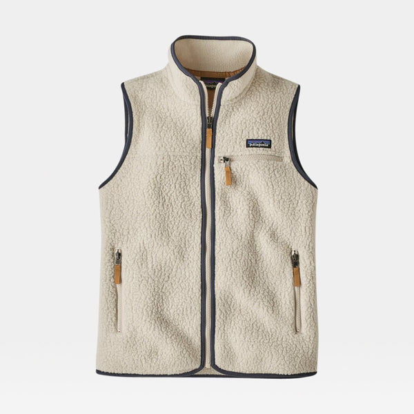 Retro Pile Fleece Vest Women