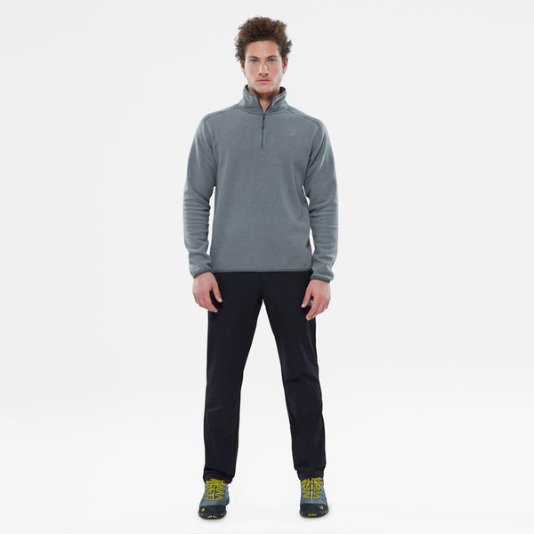 100 Glacier 1/4 Zip Medium Grey Heather-High Rise Grey