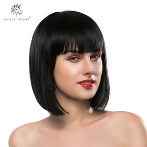 Synthetic Wigs Blonde Unicorn Elegant 22 Inch Long Hair Wig Natural Wave Hair With Side Bang Dark Brown 30% Human Hair Breathable Wig For Women Clearance Price Hair Extensions & Wigs