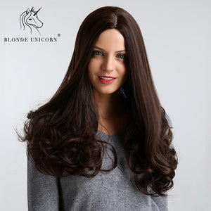 Hair Extensions & Wigs Blonde Unicorn Synthetic 28 Inch High Density Temperature Long Wavy Wigs Brown Cosplay Black White Women Curly Hair Wigs Customers First
