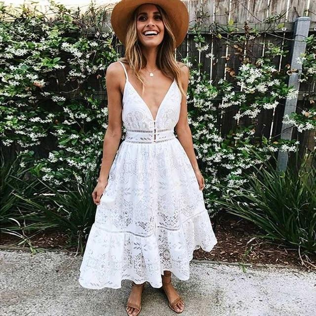 0ff73c3924 Tap to expand. PrevNext. Image of White Lace Long Dress 2019 Summer ...