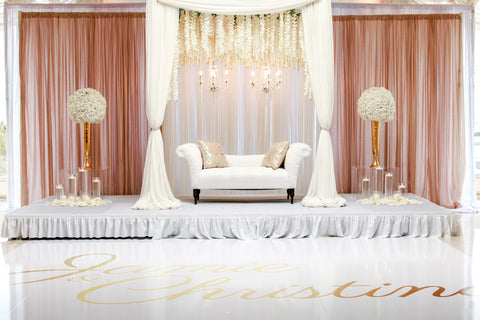 Wedding Fabric Backdrop Decor