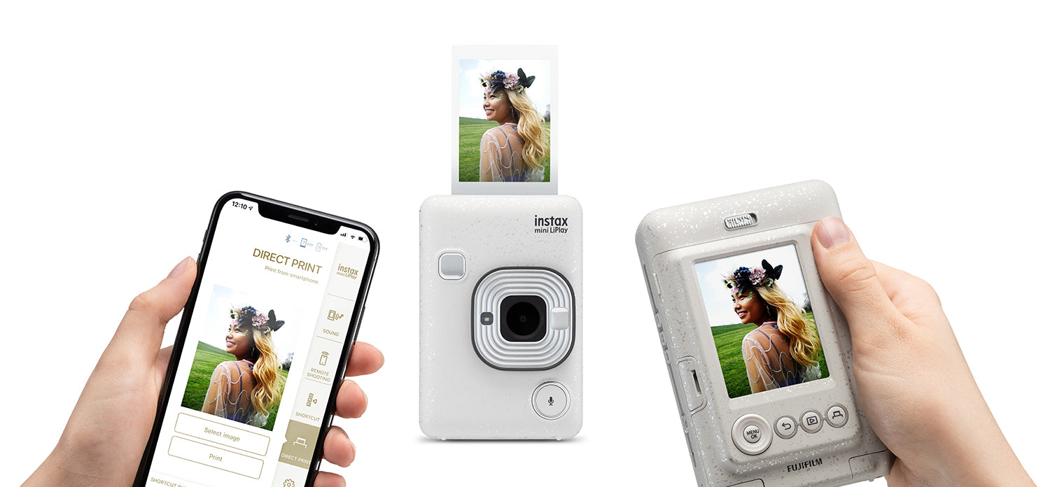 instax mini LiPlay stone white