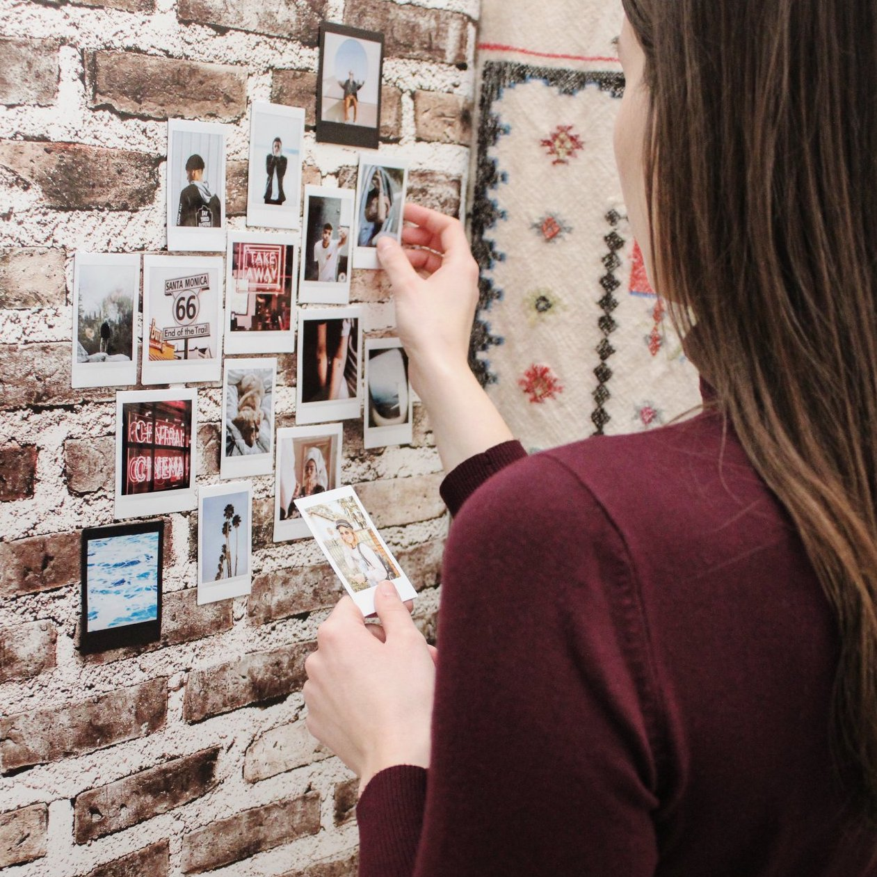 instax photo wall