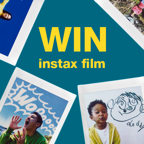 win free instax film database competition banner