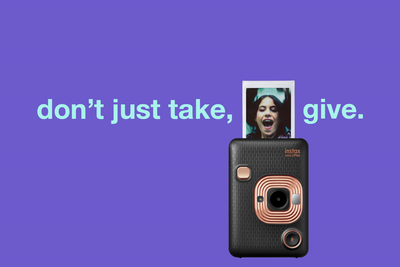 don't just take, give. #instaxGives