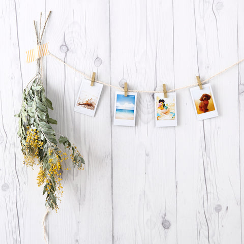 instax flower garland