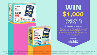 Chance to win $1,000 cash