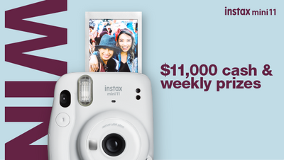 Win* $11,000 cash & weekly prizes with mini 11
