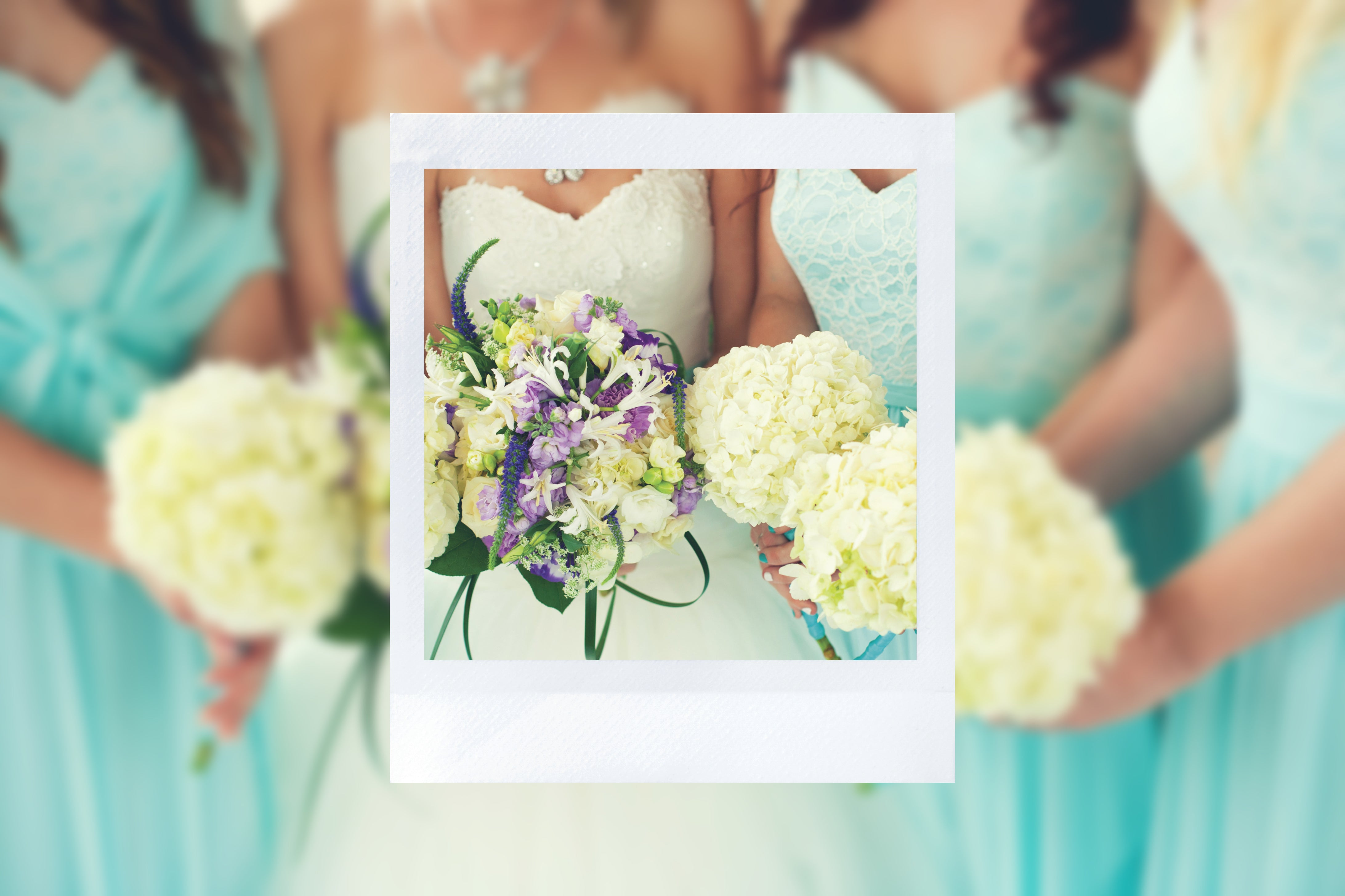 instax SQUARE wedding bouquet