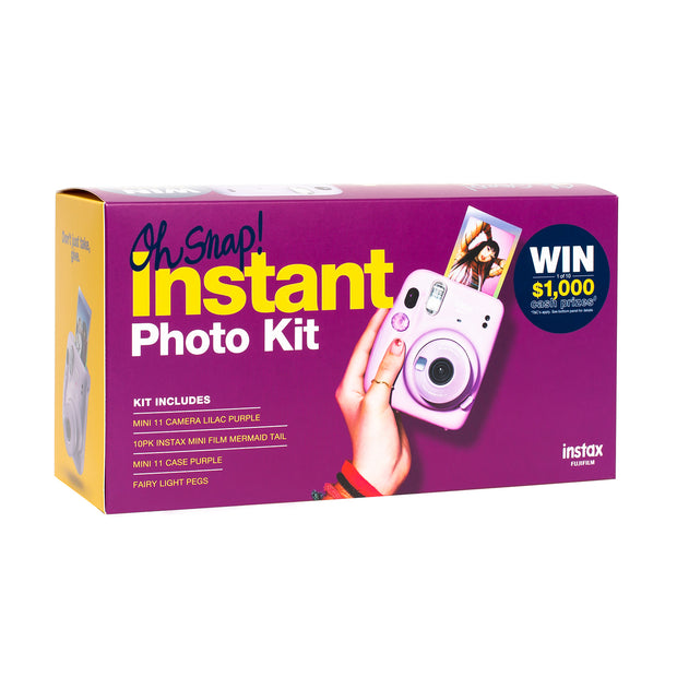 instax mini 11 Oh Snap! Instant Photo Kit - Lilac Purple