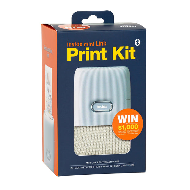 instax mini Link Print Kit - Ash White