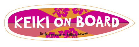 Keiki on Board Sticker
