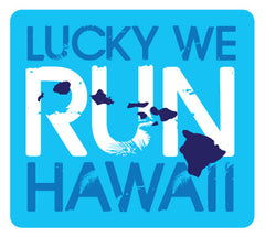 Lucky We Run Hawaii Logo Tank
