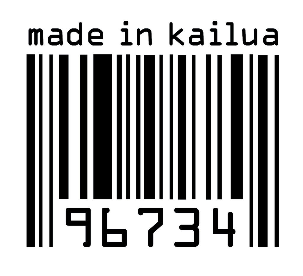 Made in Kailua Barcode