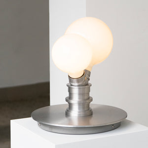 Clusters Table Lamp - Two Bulbs Aluminum