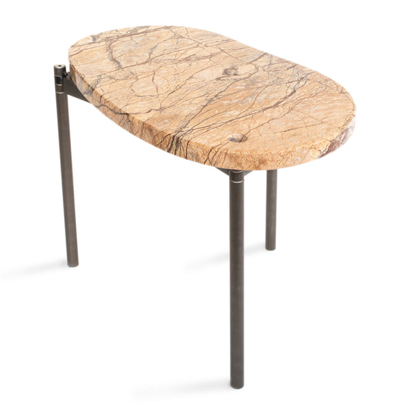 Segments Side Table – Brown Rainforest
