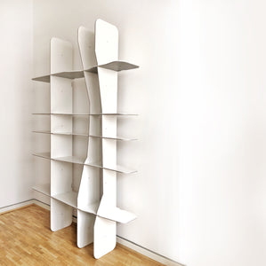 Intersections Floor/Wall Bookshelf – Large Pure White
