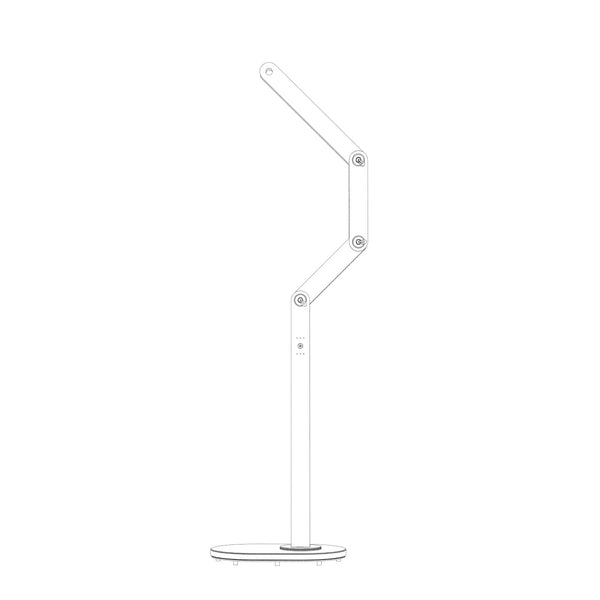 Articulations Floor Lamp – Two Lights Brown Rainforest