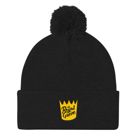 Royal Grove Pom Pom Knit Cap