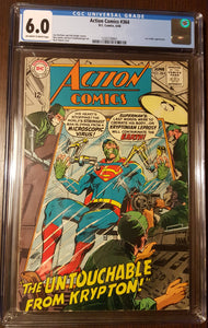 Action Comics #364 (1938) CGC Superman DC comics feat. Supergirl