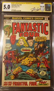 Fantastic Four (1961 1st Series) #129 Signed by STAN LEE