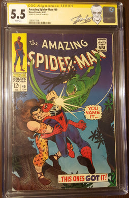 Amazing Spider-Man (1963 1st Series) #49 Signed by STAN LEE