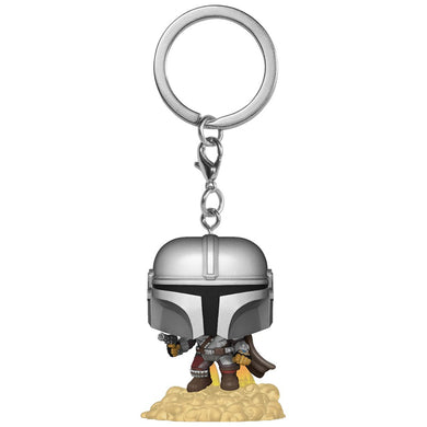 Star Wars: The Mandalorian with Blaster Pocket Pop! Key Chain