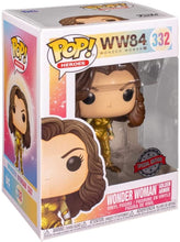 Funko Pop! Heroes: DC's Wonder Woman 1984 - Wonder Woman with Golden Armor (Metallic) Vinyl Figure, Amazon Exclusive